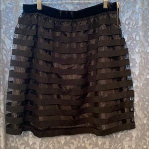 J Crew Black Skirt Size 12